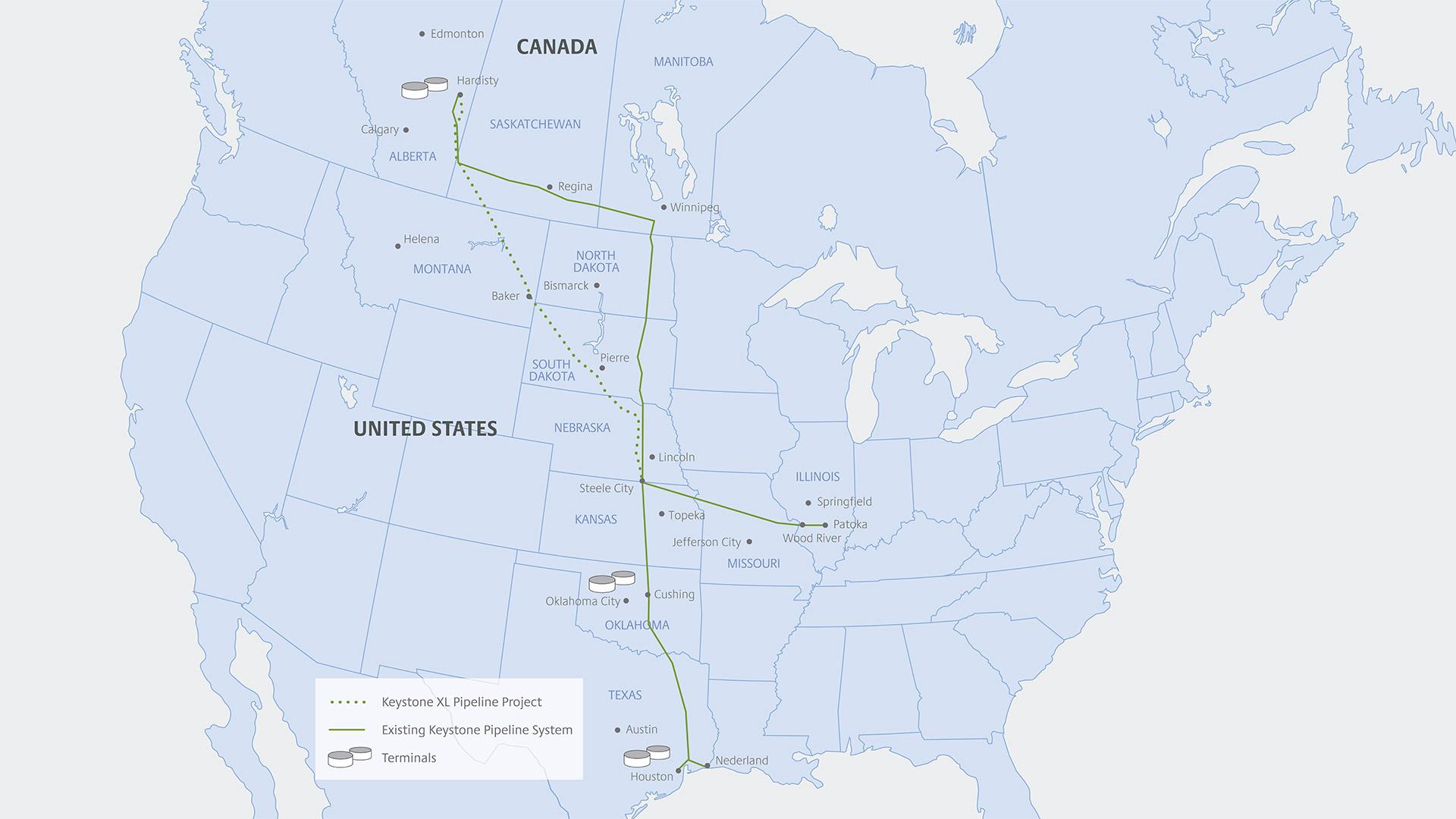 Keystone XL Map